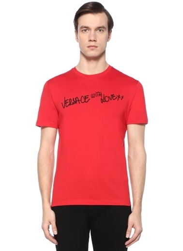 Versace Tişört Kırmızı